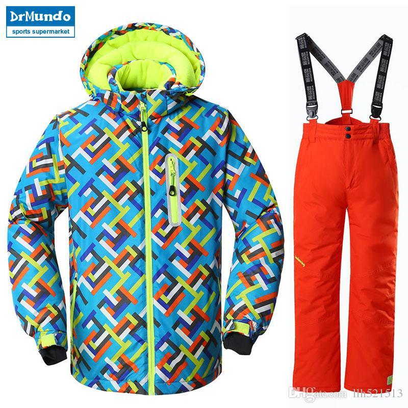 061df6c6f4 Boys Ski Jacket Children Waterproof Windproof Clothing Kids Winter ...