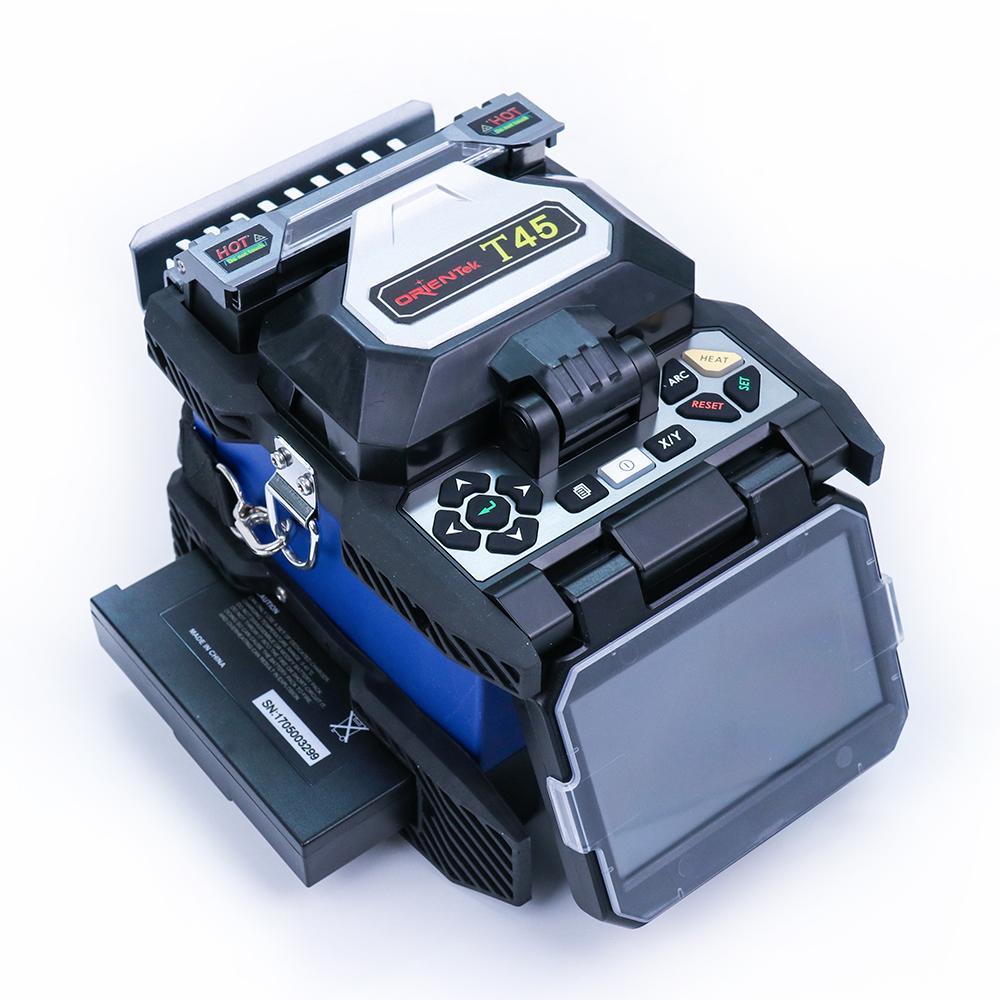 Orientek T45 Core Alignment Fusion Splicer FTTH Fusion Equipment  Fusionadora maquina de fusao splicing machine