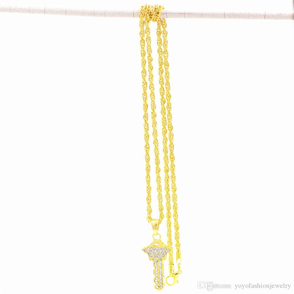 Uodesign Египетский Анк Ключ Жизни Золотой цвет Ключ Кулон Ожерелье Цепочка Шарм Полный Кулон Роскошный Кулон Дешевые Ювелирные Изделия
