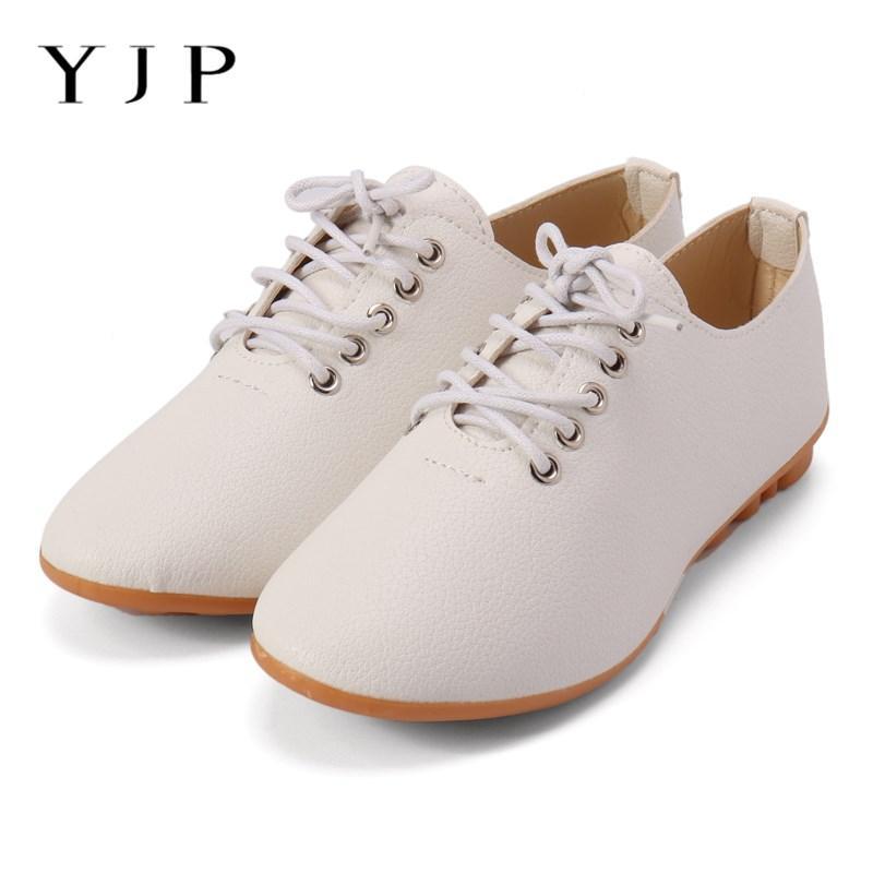 YJP PU Leather Women Flat Shoes 3df1c34614e7