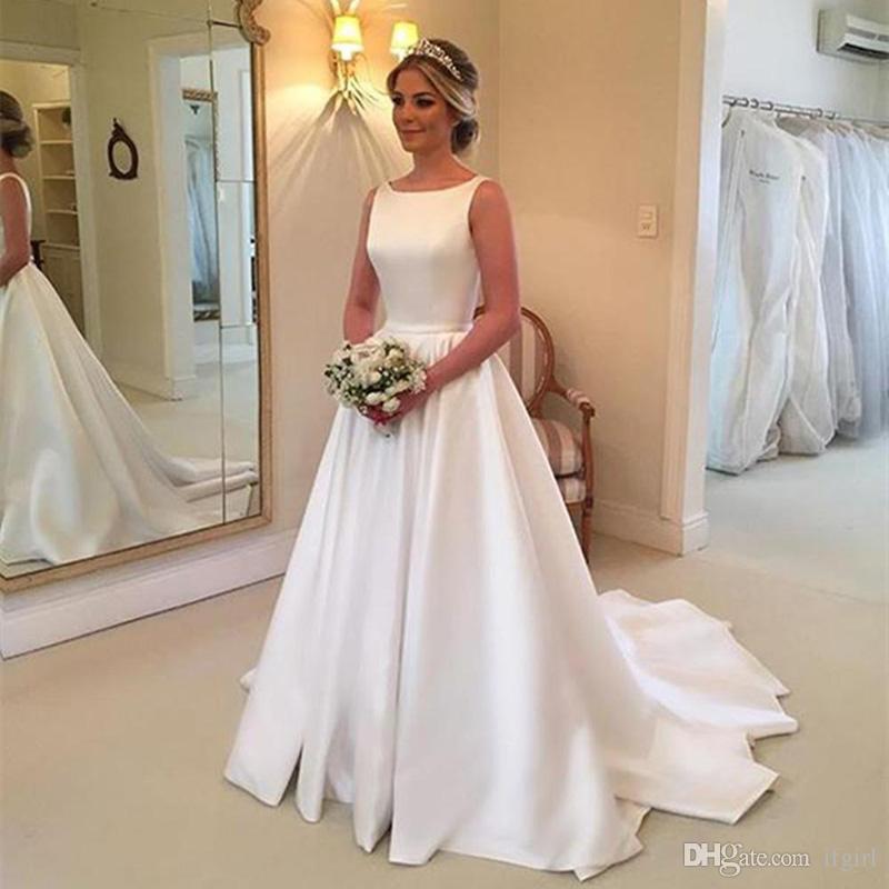 Vestidos Noiva China Vestidos De Noiva De Cetim Branco