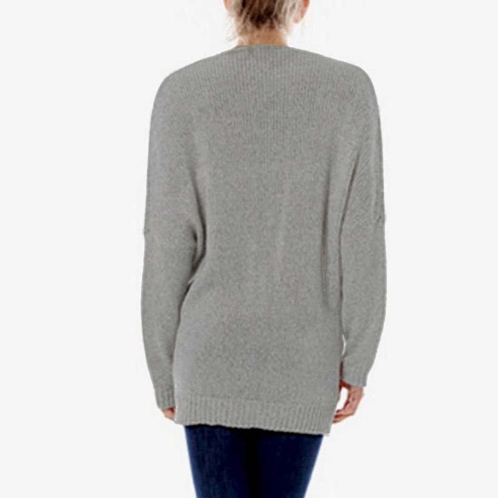 FANALA Maglioni pullover donna autunno e inverno sexy Maglione donna avvolgente con collo incrociato Maglione ispessimento top thread slim