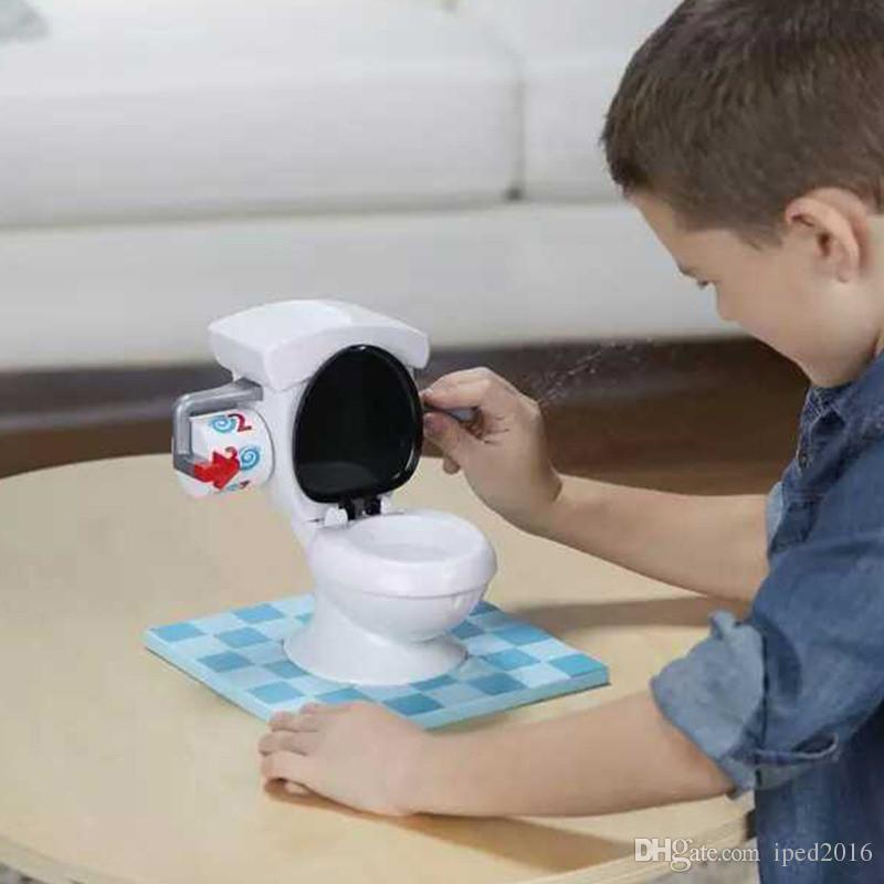 Nuevo TOILET TROUBLE Creativo Juego Super divertido Juguetes Juguete de tocador Mini juguetes para padres Niños Amigos Jugar juntos Regalos para niños