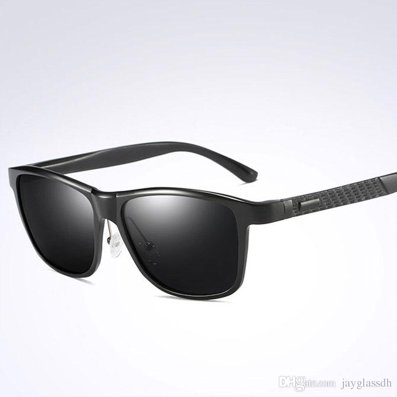 10560e35874 2018 Classic Polarized Sunglasses Brand Design High Quality Men Driving Sun Glasses  Male Square Glasses Night Vision Eyewear UV400 Shades Mens Sunglasses ...