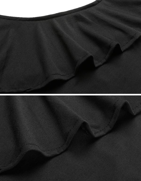 FANALA Bodysuit Women 2017 Bodie Ruffled One Shoulder Leotard Top Long Sleeve Slim Rompers Women Tops Sexy Skinny Body Jumpsuit