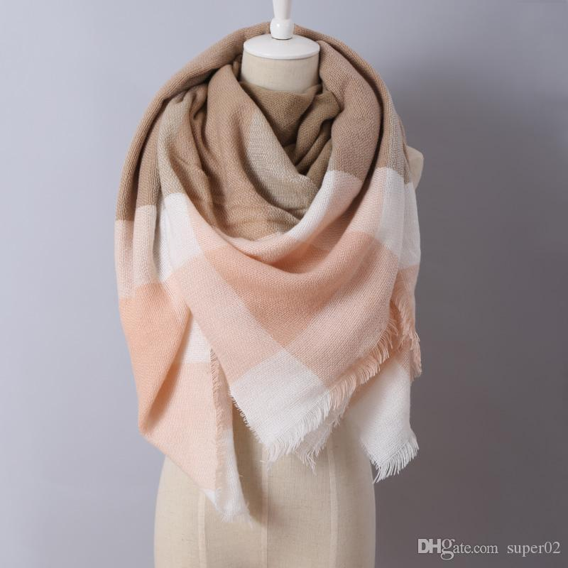 85dbac35d 2018 Brand New Design Fashion Blankets Scarf Soft Acrylic Winter Scarves  Warm Oversized Square Plaid Scarf Shawl For Women Winter Scarf Tube Scarf  From ...