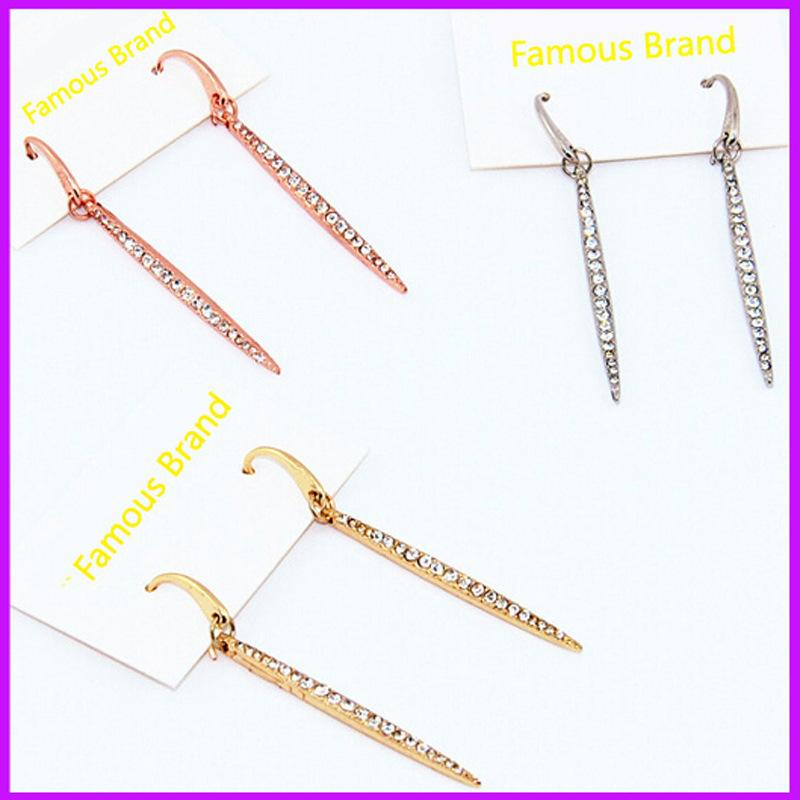 multi new for qusfy earrings stud women item crystal fashion a color jewelry letter