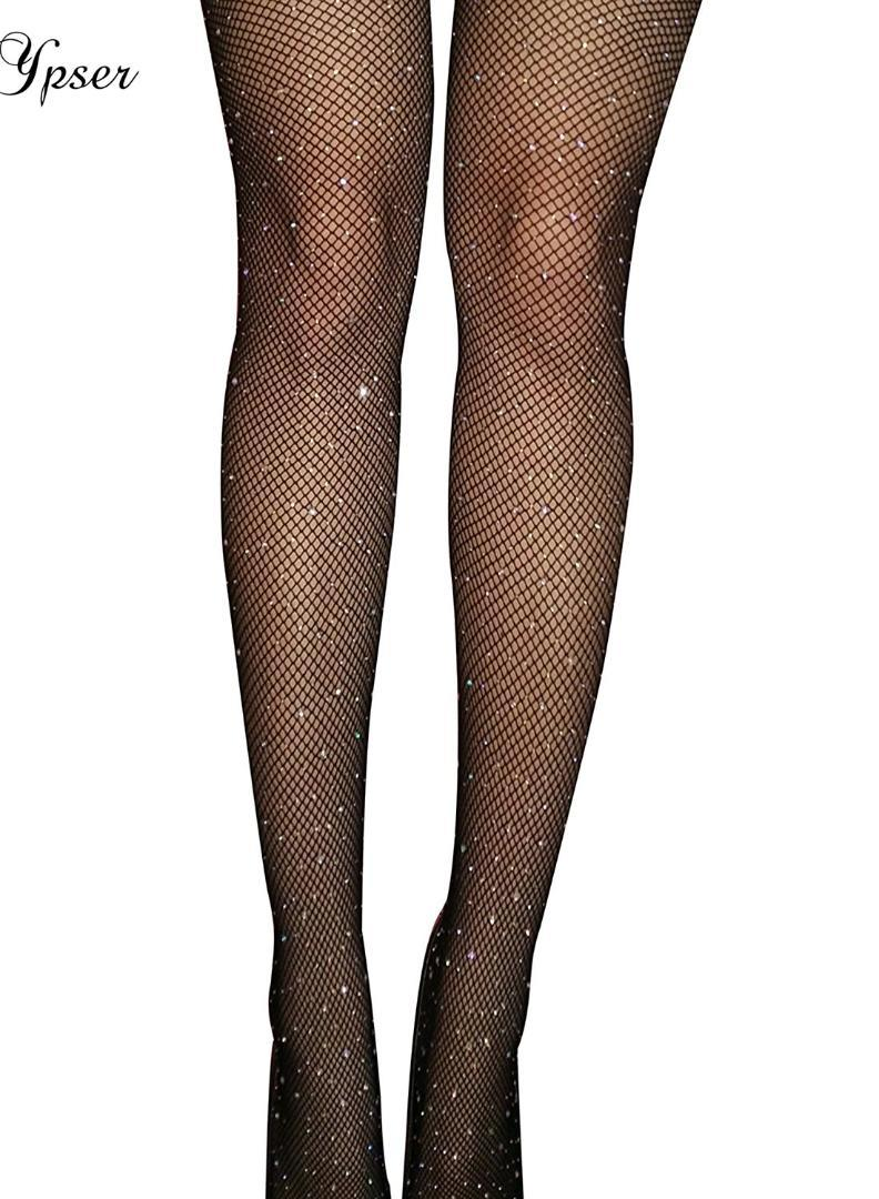 5c98c3e518d7d 2019 4 Style Women Sexy Crystal Rhinestone Tights Fishnet Glittering Mesh  Pantyhose Charm Stockings Club Party Hosiery 2017 New From Maoyili, ...