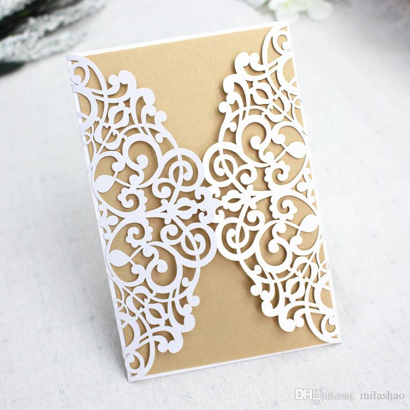 Birchcraft Wedding Invitations: Delicated Carved Invitation Card For Wedding Party Lase