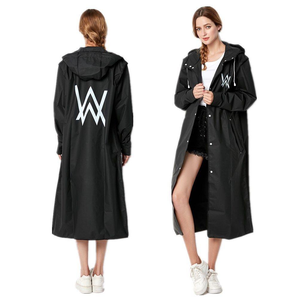 9bef6a5d23157 2018 New Fashion Big Size Women Black Raincoat Thin Poncho Ladies  Waterproof Long Slim Rain Jacket Adults Rain Coat Boys Lined Raincoat Plus  Size Rain Gear ...