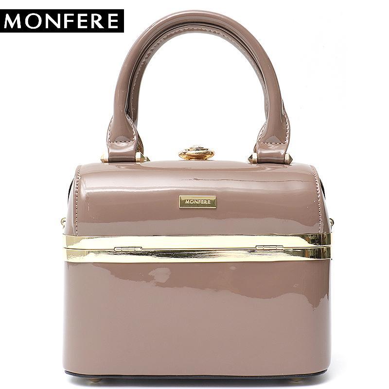 113b3a3d49f MONFERE Fashion Patent Leather Luxury Pu Women S Handbags Box Rhinestones  Shoulder Bag Party Purse Bags Famous Brand Design Bag Y1891907 Handbags  Wholesale ...