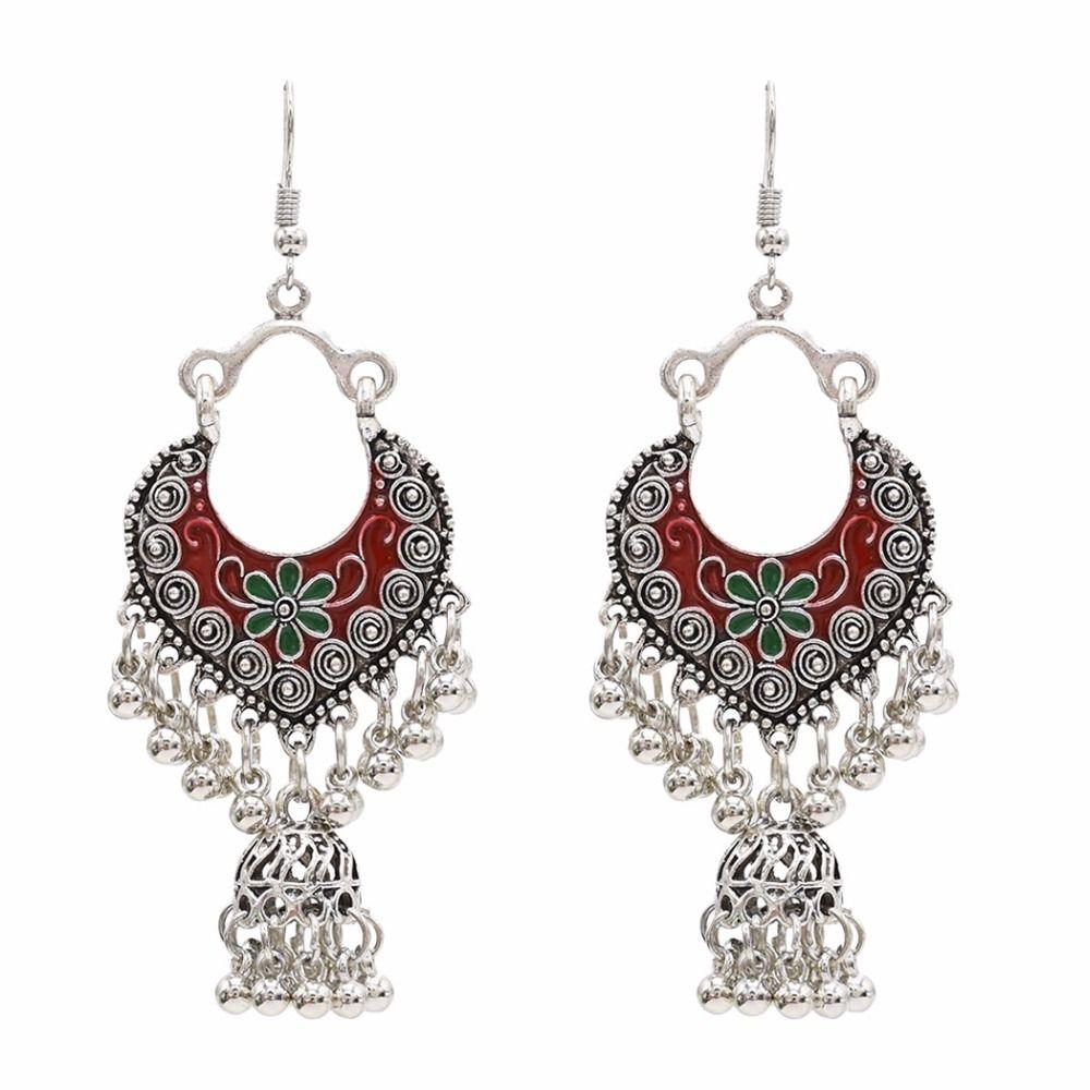 2019 Vintage Ethnic India Jhumka Jhumki Earrings Carved Flower Handmade  Tradition Bell Drop Earrings Jewelry For Women Indian Jewelry From  Beijiaer 2eca2880502f