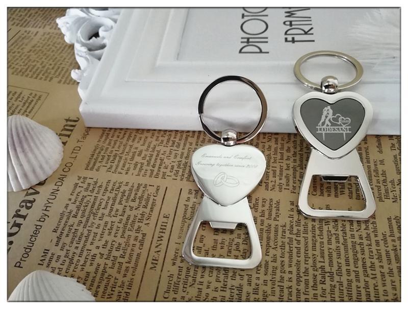 Bride Groom Personalised Key Ring Key Chain Beer Bottle Opener