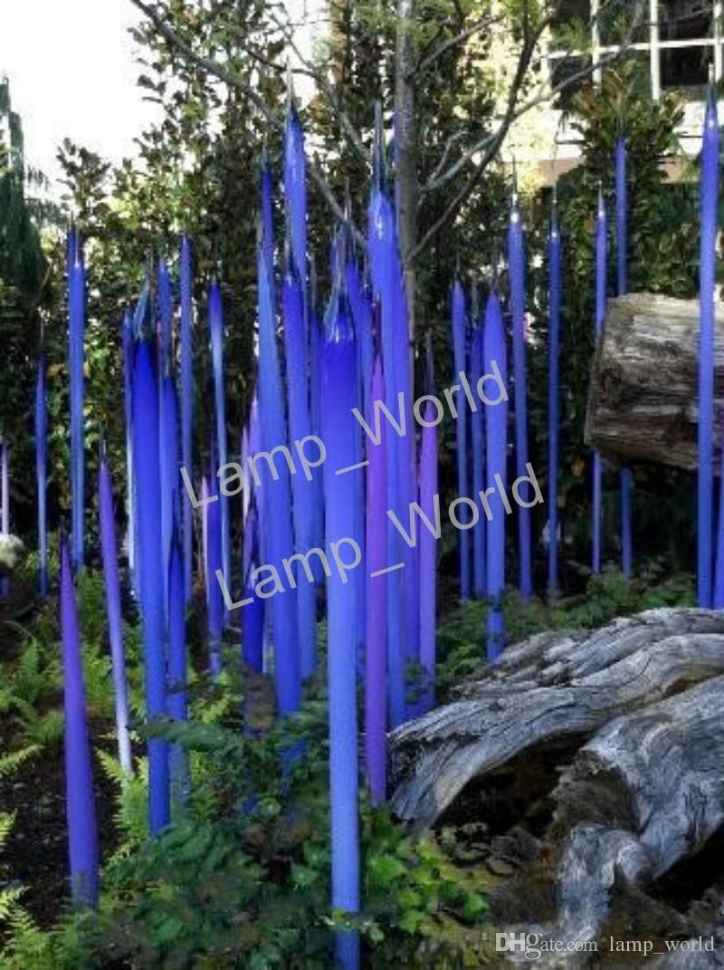2020 Modern Chihuly Style Murano Glass Spears For Garden Art Decoration Blue Glass Sculpture 100 Mouth Blown Glass Garden Sculpture From Lamp World 154 94 Dhgate Com