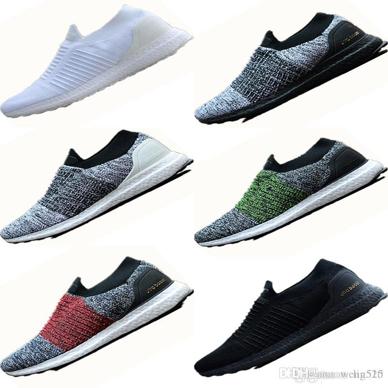 d49a8cd5260f 2018 Newest Ultra Laceless Mid Shoes White Triple Running Shoes for ...