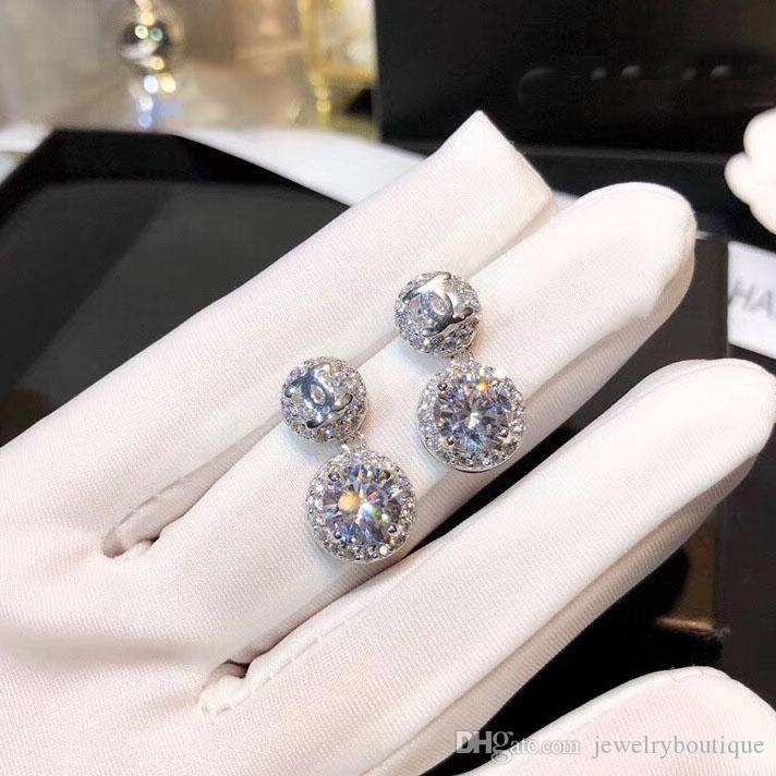 459f2e4ee60 2019 Classic Design Drop Earrings Paris Style With Sparkle Diamond Brand  High VERSION Women Party Wedding Earrings Luxury Charm Valentine S Day J  From ...