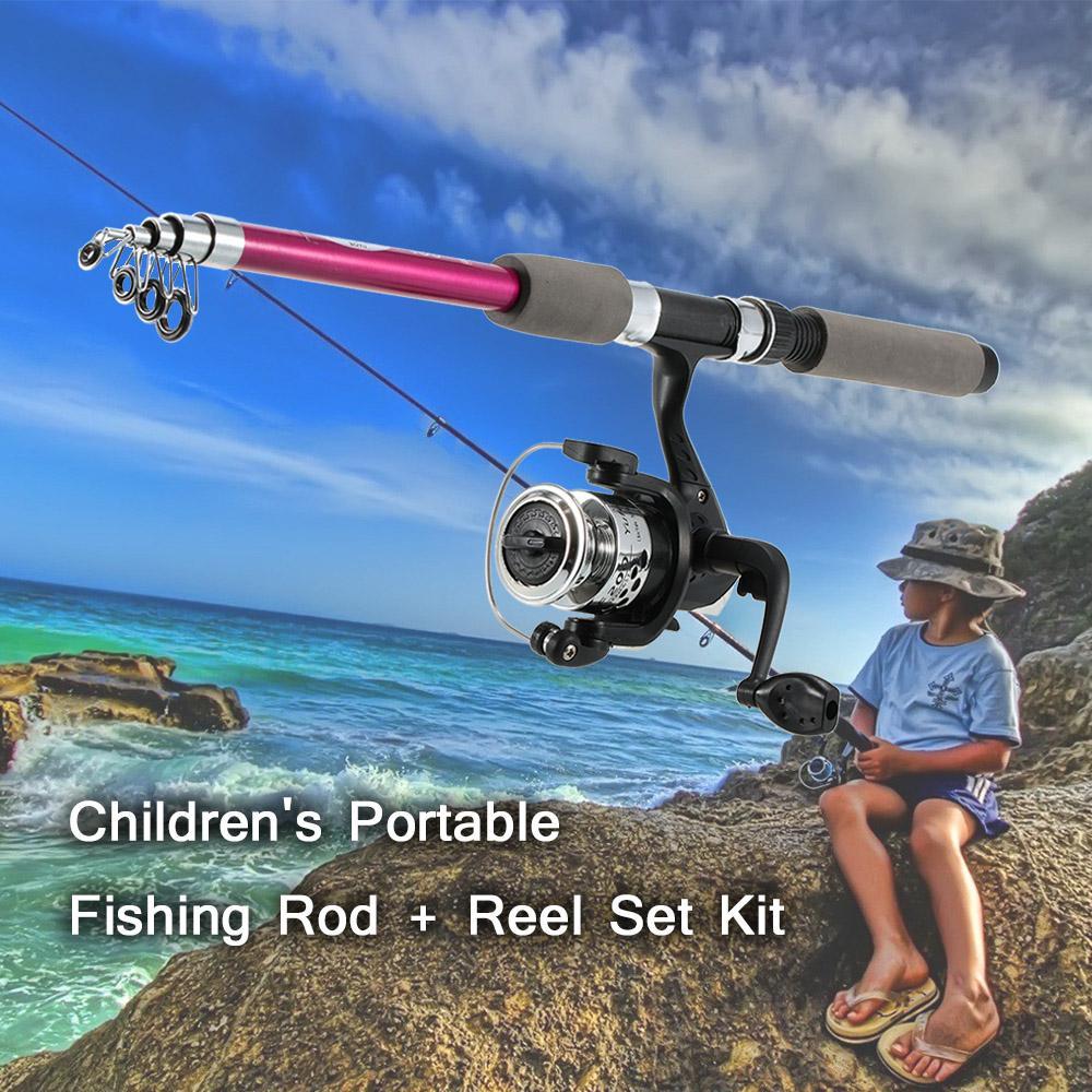 495a75d6fa5c combo pesca Kid's 1.8m Rod Reel Combo Kit Children Retractable Fish Pole  Casting Reel Fishing Bag Set Fishing Tackle Tool Pesca