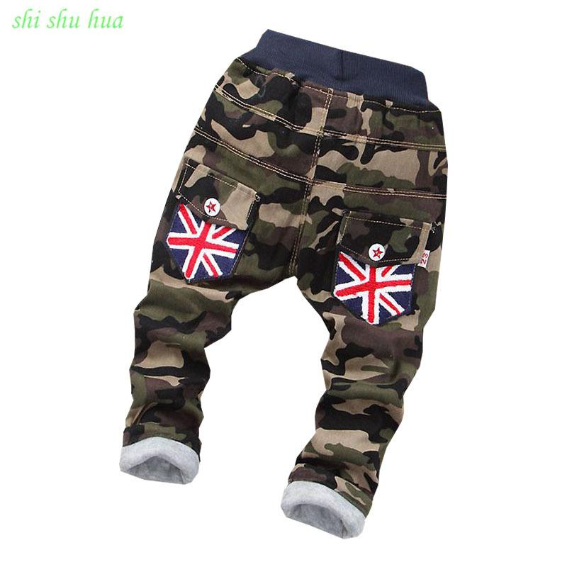 4c2f5c2b47e Children s clothing boy girl winter Cotton trousers baby warm thickened  jeans cartoon printing 2-5 year old baby warm trousers Y18103008