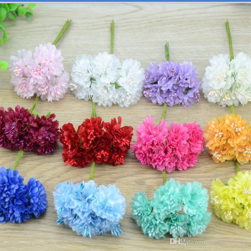 2018 cheap mini silk rose artificial silk flowers bouquet wedding 6pcs lot cheap mini silk rose artificialg mightylinksfo