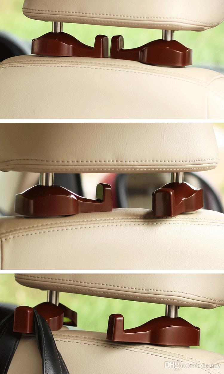سيارة هوك المعلق تصميم جميل آمن خفية سهلة التركيب السيارات سيارة مقعد السيارة شماعات متعددة الألوان حزمة البيع بالتجزئة / لوط آخر