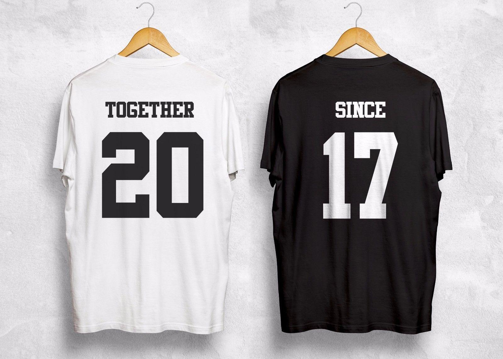 862646e4bb Together Since Any Year T Shirt Personalized Custom Valentines Gift Couple  Wifey Cotton Short Sleeved O Neck T Shirts Euro Size Online Tee Shirts  Shopping ...