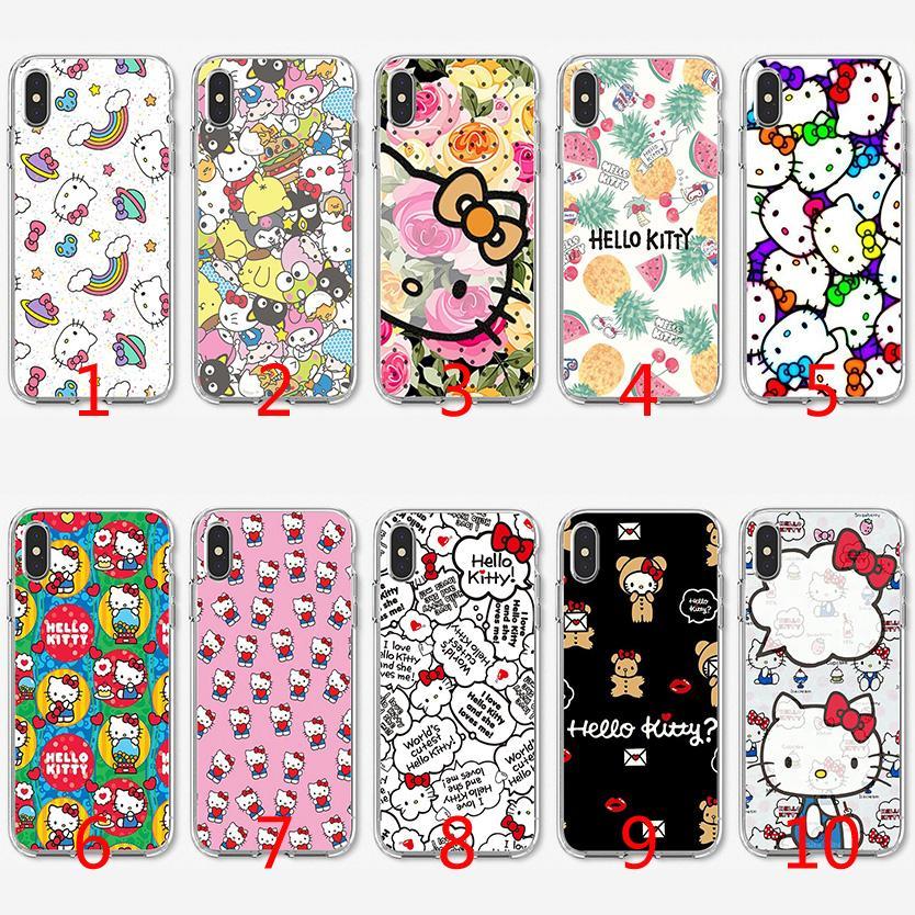 b6c4b38e018 Carcasas Movil Hello Kitty Funda De TPU De Silicona Suave Linda Para IPhone  X XS Max XR 8 7 Plus 6 6s Plus 5 5s SE Carcasas De Movil Personalizadas Por  ...