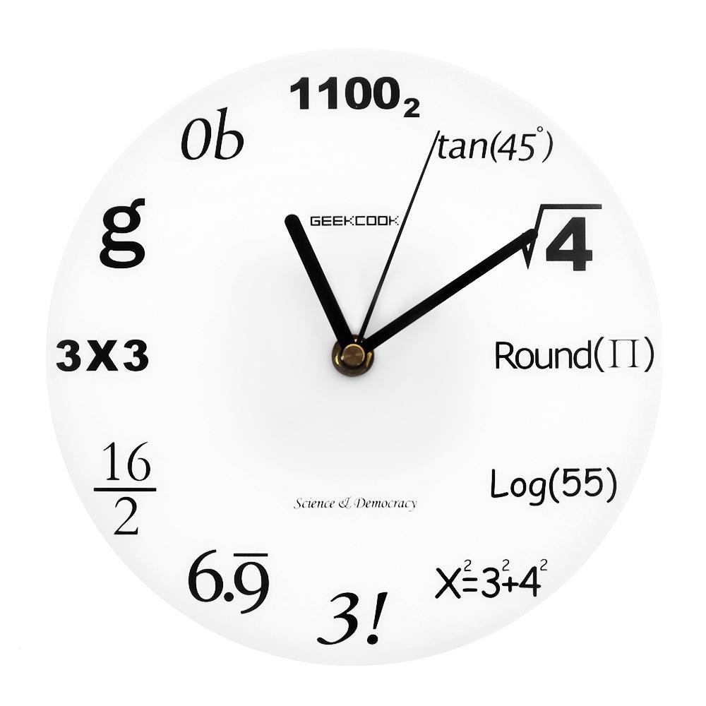 e7798e9baf9 Compre Ciência Democracia Pop Quiz Matemática Matemática Relógio De Parede  Matemática Números De Matemática Equação Relógio Moderno Nerd Presente De  ...