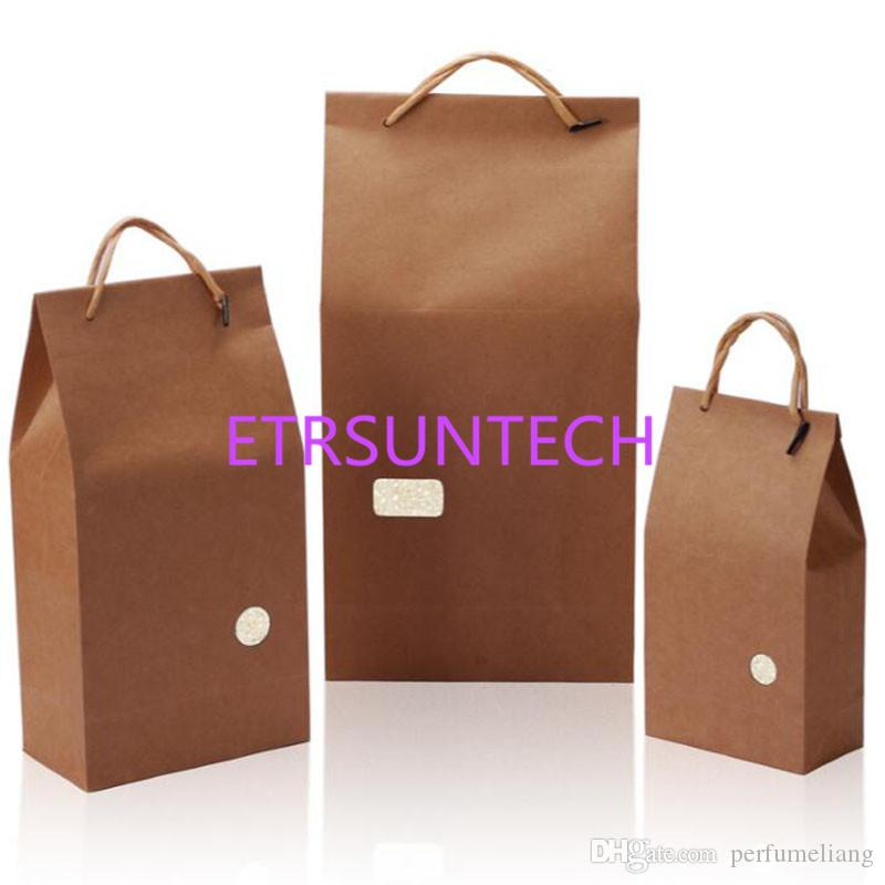 fb3685d4f4ecc 2019 1KG 2.5KG 5KG Kraft Paper Bag For Rice Flour Food Packaging Blank  Universal Packaging Pouch Bags QW8027 From Perfumeliang