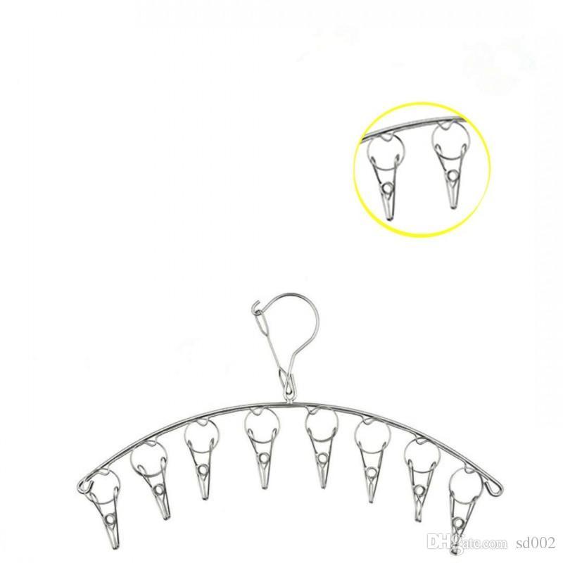 스테인레스 스틸 넥타이 양말 랙 바람 증거 후크 디자인 옷걸이 공간 절약 옷걸이 고품질 3 4kws B