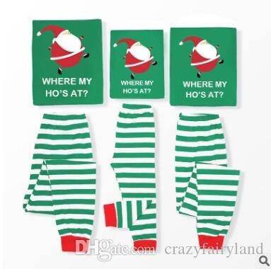 0600eae2 Christmas Pajamas Set Family Matching Outfits Santa Claus Striped ...
