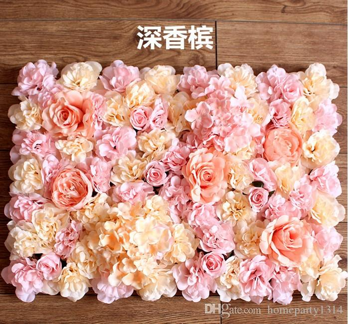 Romantic Fashion Artificial hydrangea rose flowers wall wedding backdrops lawn/pillar flower road lead arch party stage flower decoration