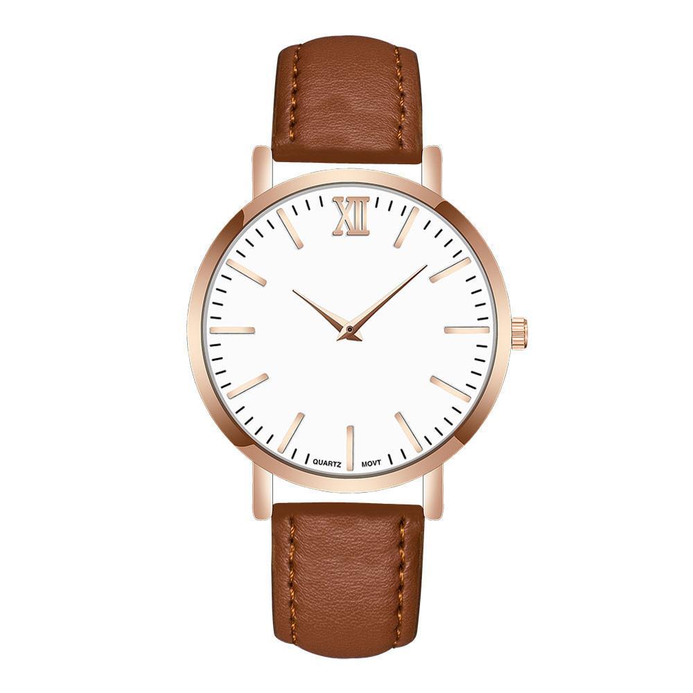 cef4ce2bfdc1 Compre 2018 Gran Dial Relojes Para Hombres Hora Relojes Para Hombre De  Primeras Marcas De Lujo Banda De Cuero De Cuarzo Analógico Reloj De Pulsera  Redondo ...