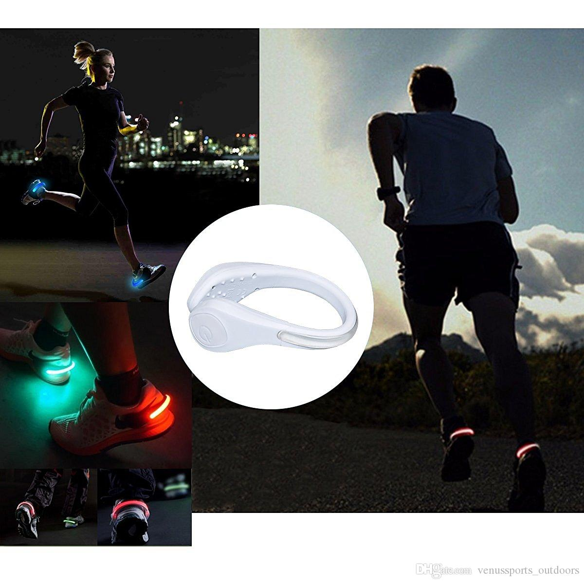 LED Flash Shoe Safety Clip Lights for Runners & Night Running Gear - Reflective Running Gear for Running, Jogging, Walking, Spinning