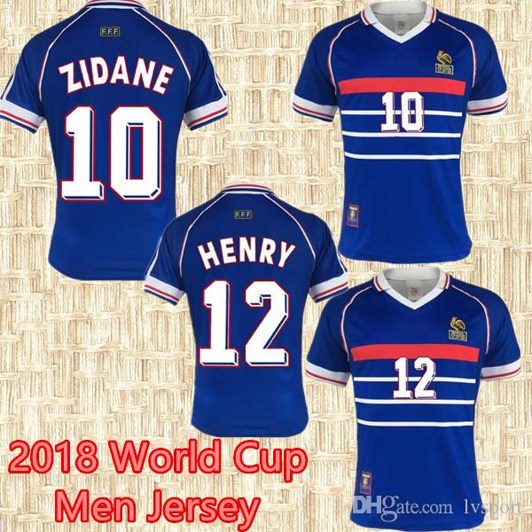 2019 French 1998 World Cup Champion Francia Retro Soccer Jerseys Home  ZIDANE HENRY MAILLOT DE Away FOOT Shirts VINTAGE 98 Fr Football Uniforms  From Lvsport 75d1c6fe0