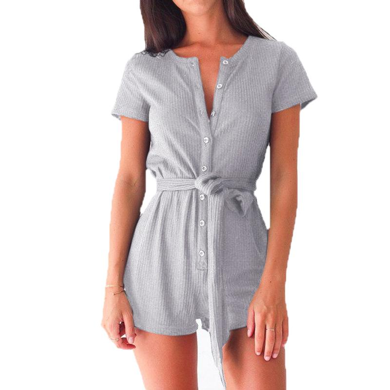 6845ba1d74bb 2019 Plus Size Women Playsuits Rompers Sexy Casual Short Sleeve Jumpsuits  Girls Playsuits Overalls 2019 Summer Women S Clothing GV540 From  Illusory02