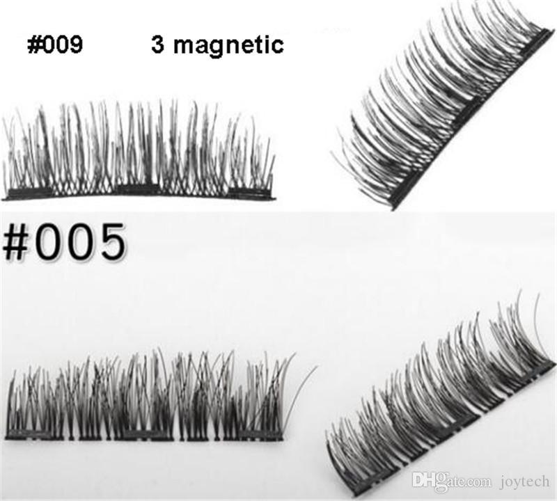 4 ADET set 3d vizon kirpik Manyetik vizon kirpiklere el yapımı mıknatıs lashes hediye kutusu ile doğal sahte kirpikler