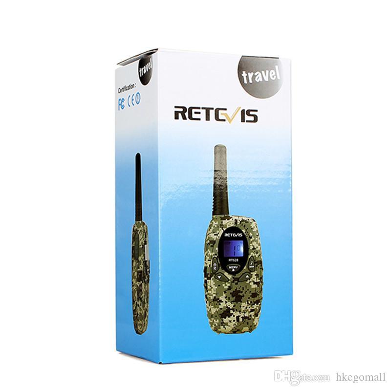 Retevis RT628 Walkie Talkie Mini Kids Radio PMR FRS 0.5W PMR446 8/22CH VOX PTT LCD Display Children 2 Way Radio Transceiver