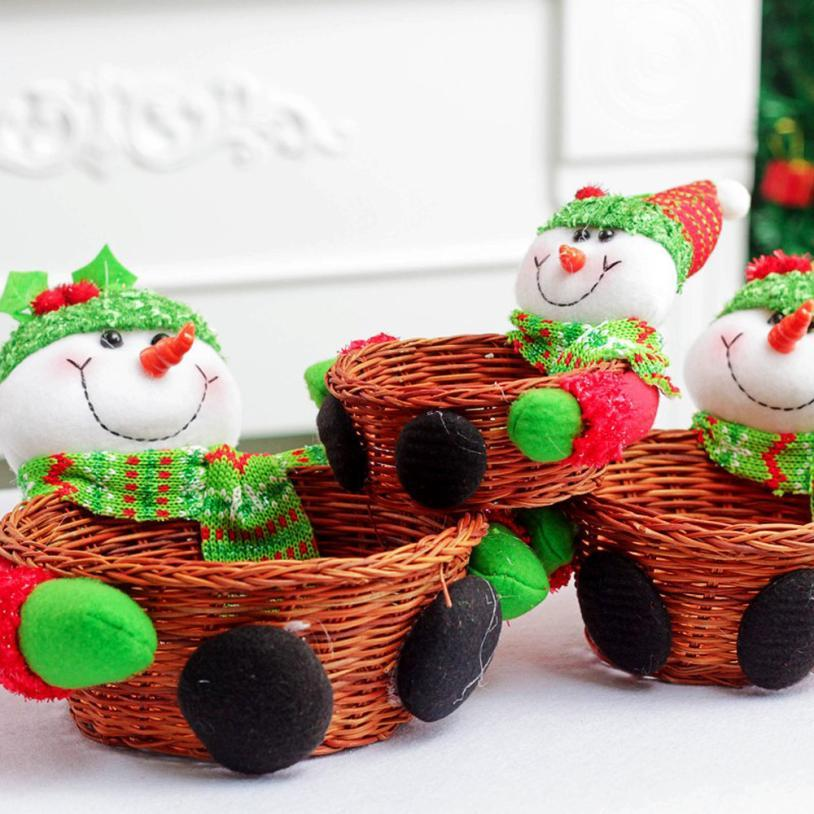 creative christmas candy storage basket decoration santa claus storage basket gift cute christmas decorations for home christmas decorations for home