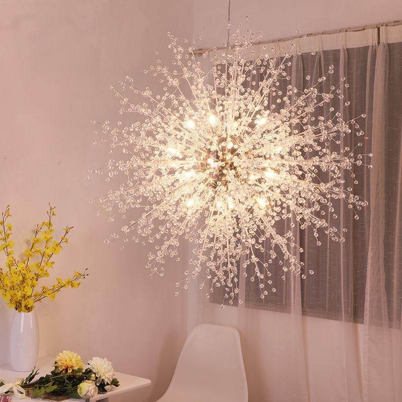 Postmodern Living Room Crystal Lamp Originality Restaurant Art ...
