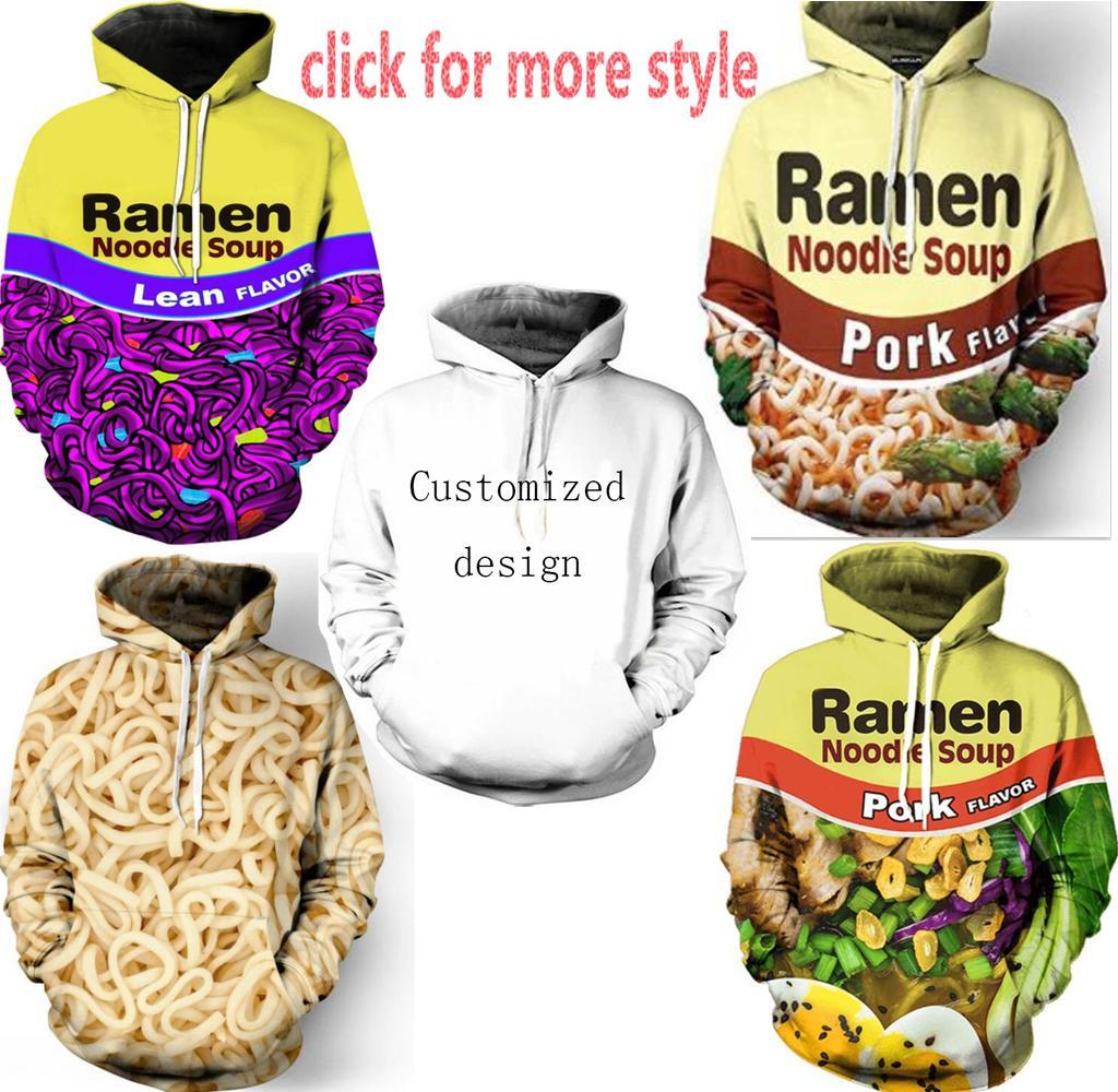 2019 New Fashion Couples Men Women Unisex Clothes Ramen Shrimp