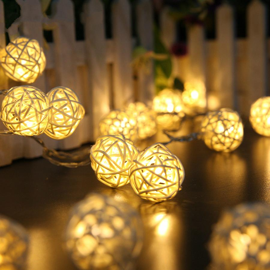 images for unique decorative rattan ball string lights
