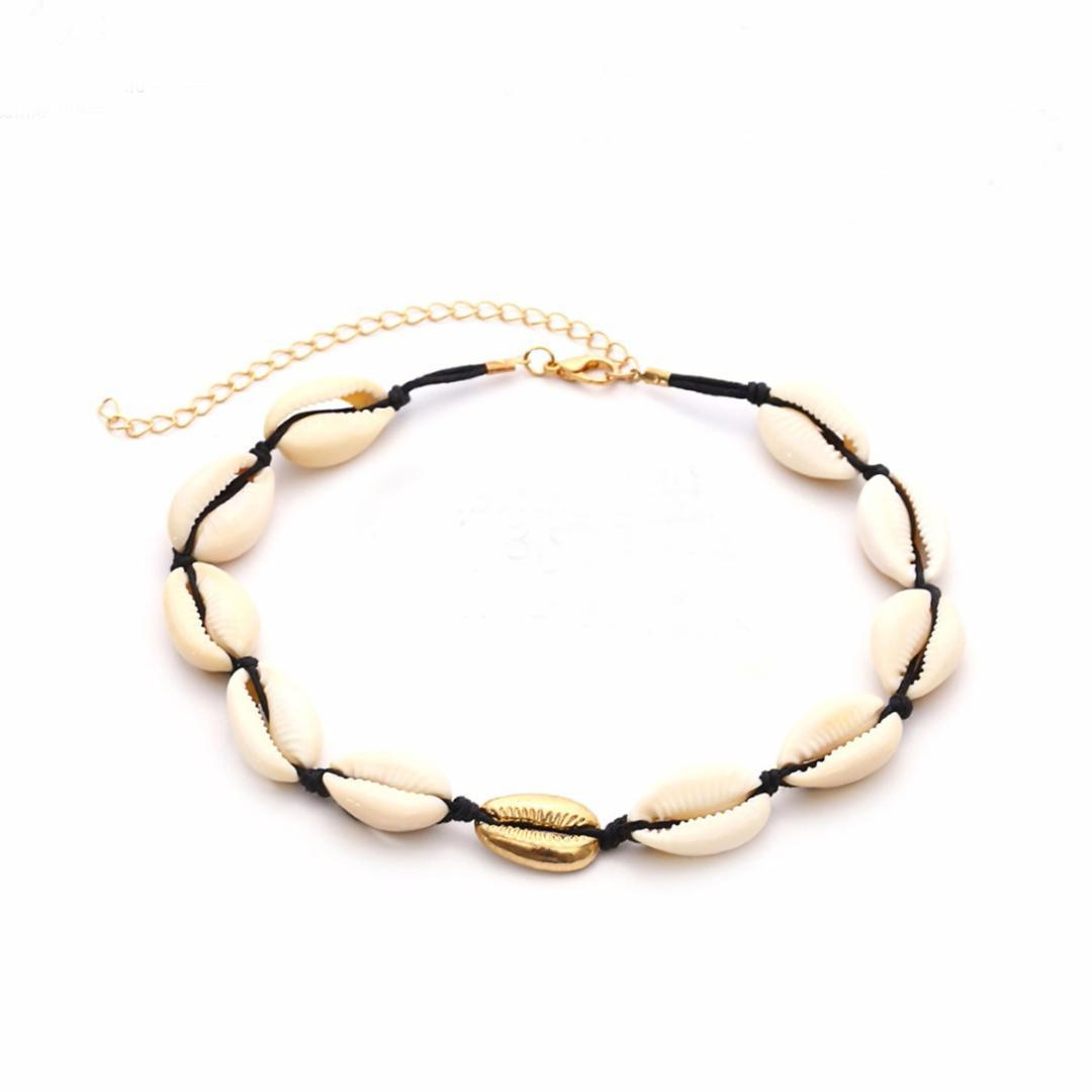 ef0c34d6feb8b Shellhard Retro Cowrie Shell Necklace For Women Vintage Rope Natural Shell  Choker Statement Neckalce Bohemian Jewelry Gift