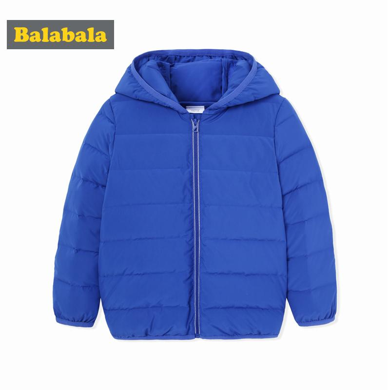 089e7bf8c Balabala Down Jacket For Boys Children Clothes Kids Solid Thick Down Jackets  Winter Warmer Outerwear Toddler Hooded Coat Girls Coats Cheap Kids Long  Winter ...