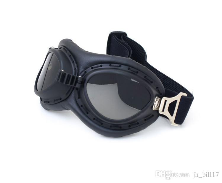 Vintage Motorcycle Goggles Pilot Motorbike Glasses Retro Jet Helmet Eyewear For Aviator Pilot Cruiser Cycling Bicycle