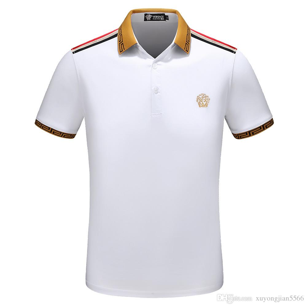 2019 2018 Italy Polo Shirt Design For Men Luxury Brand Embroidery