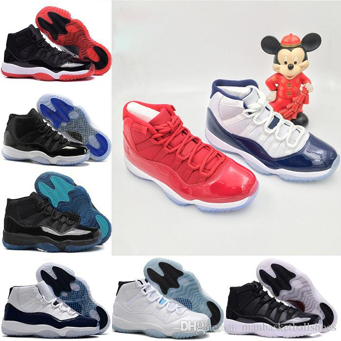 f748c6cae72c1a Mens Women Basketball Shoes Space Jam 45 11s Fashion 11 Gym Red ...