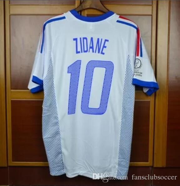 2019 Soccer Jerseys Retro Jerseys 2002 2004 World Cup Frances Home Away Zidane  Henry Trezeguet 02 04 Jersey Shirt From Fansclubsoccer 590bf91db