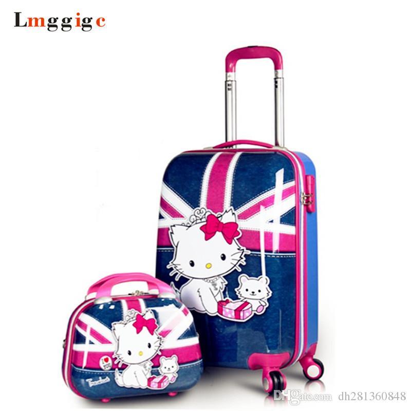 Rueda Con Para Compre Viaje Maleta Kitty Hello De Mujer Bolsa WxWnzUR
