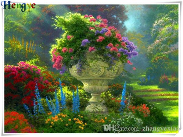Mosaic home decor gift scenery flower garden 5D diy diamond painting cross stitch kit rhinestone full round&square diamond embroidery yx3105