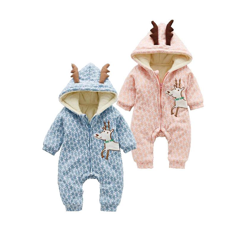 f97351abc213 2019 Unisex Baby Cute Goat Costumes Winter Double Layers Thicken ...